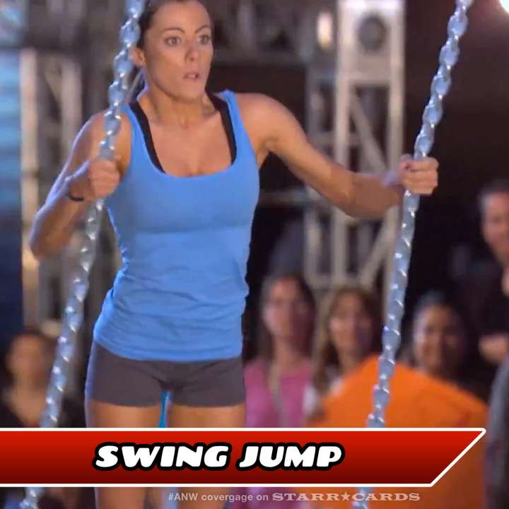Kacy Catanzaro takes on the Swing Jump on American Ninja Warrior.