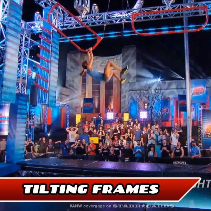 Kacy Catanzaro takes on the Tilting Frames on American Ninja Warrior.