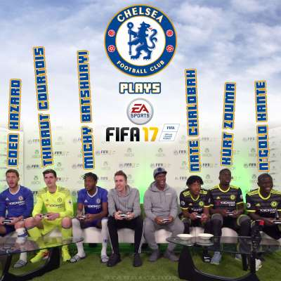 KSI plays FIFA 17 with Chelsea FC stars including Eden Hazard and N'Golo Kanté