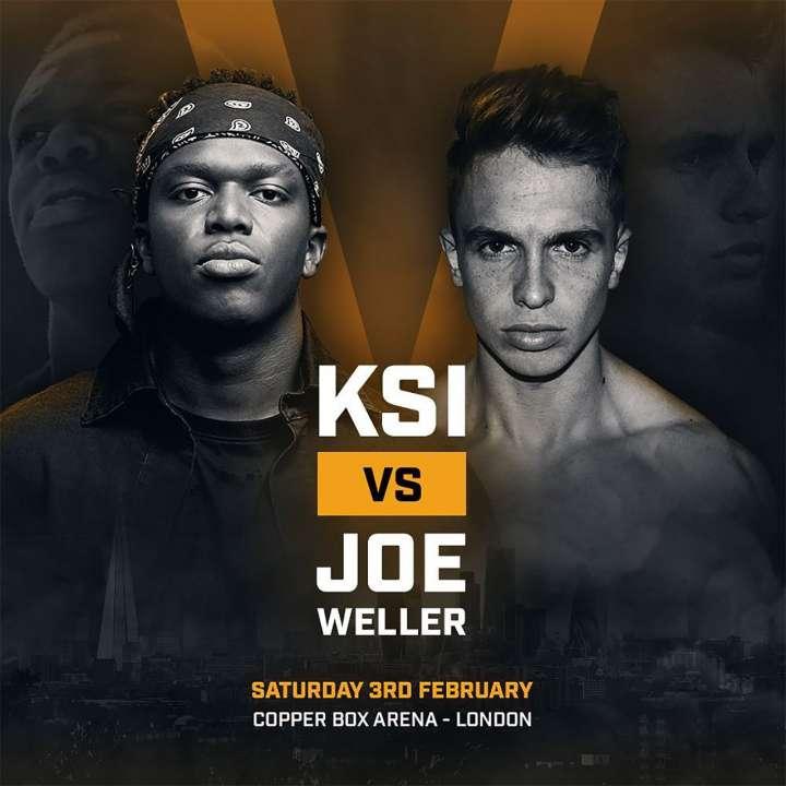 KSI vs Joe Weller boxing poster