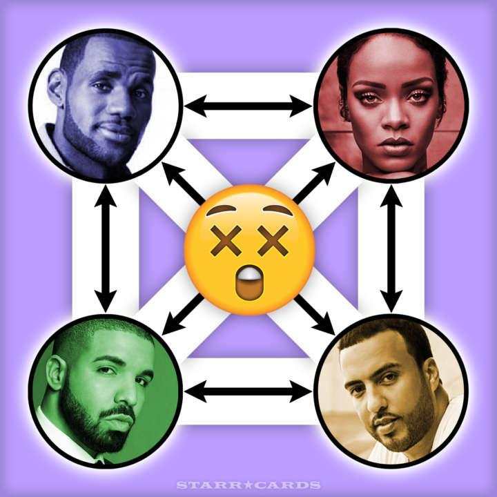LeBron James, Rihanna, Drake and French Montana form freaky foursome