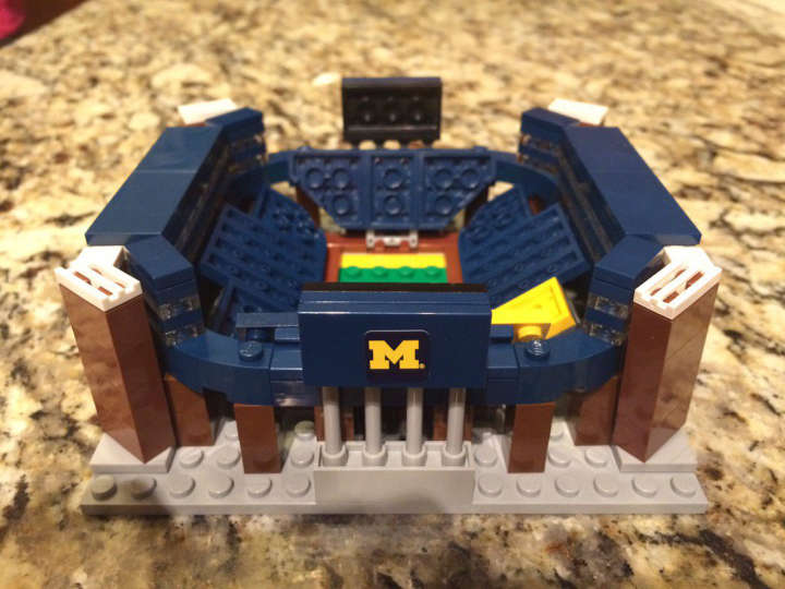 Lego model of Michigan Wolverines' Michigan Stadium otherwise known as The Big House
