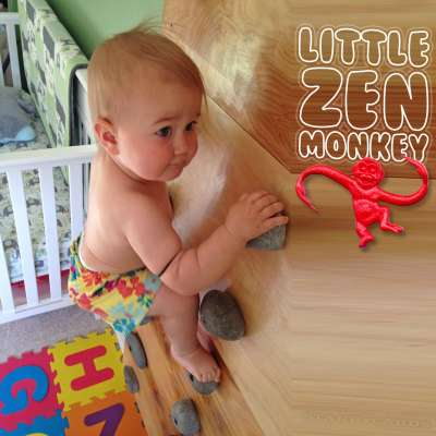 """Little Zen Monkey"" Ellie was climbing as a baby"
