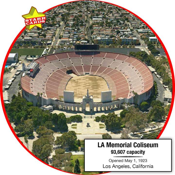Los Angeles Memorial Coliseum, Los Angeles, California: Home to the USC Trojans