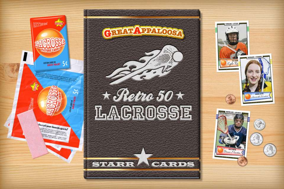 Make your own retro lacrosse card with Starr Cards.