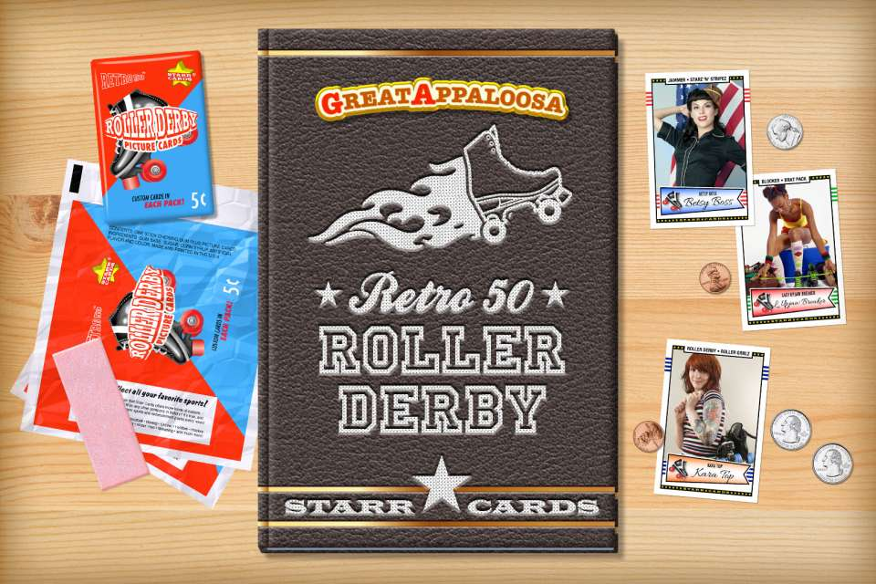 Make your own retro roller derby card with Starr Cards.