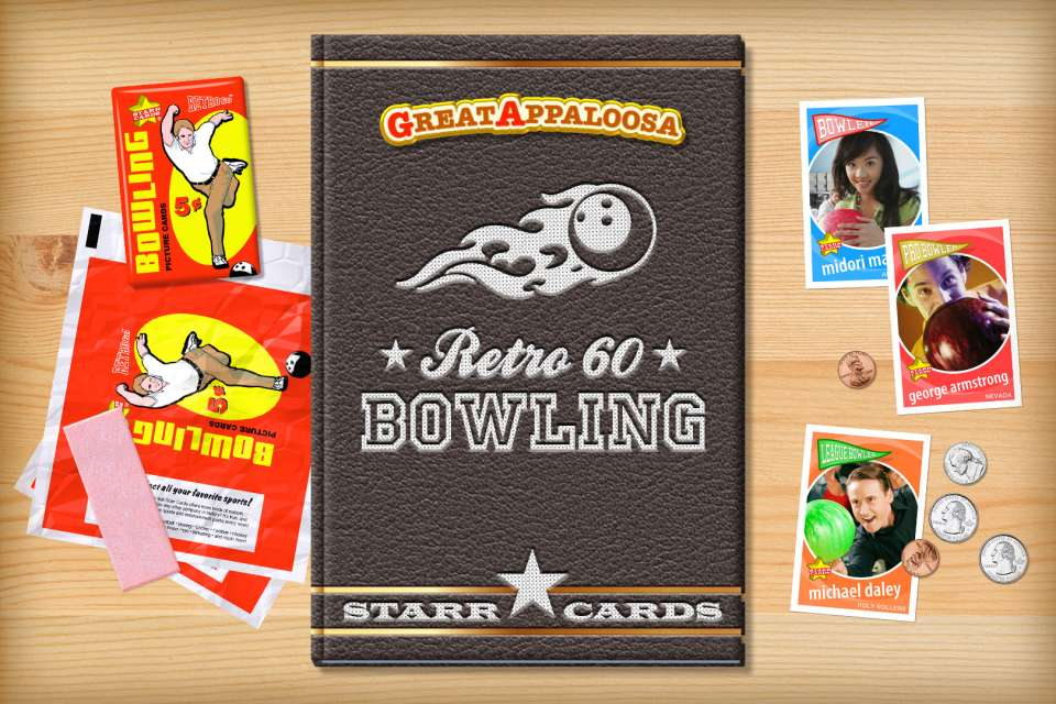 Make your own retro bowling card with Starr Cards.