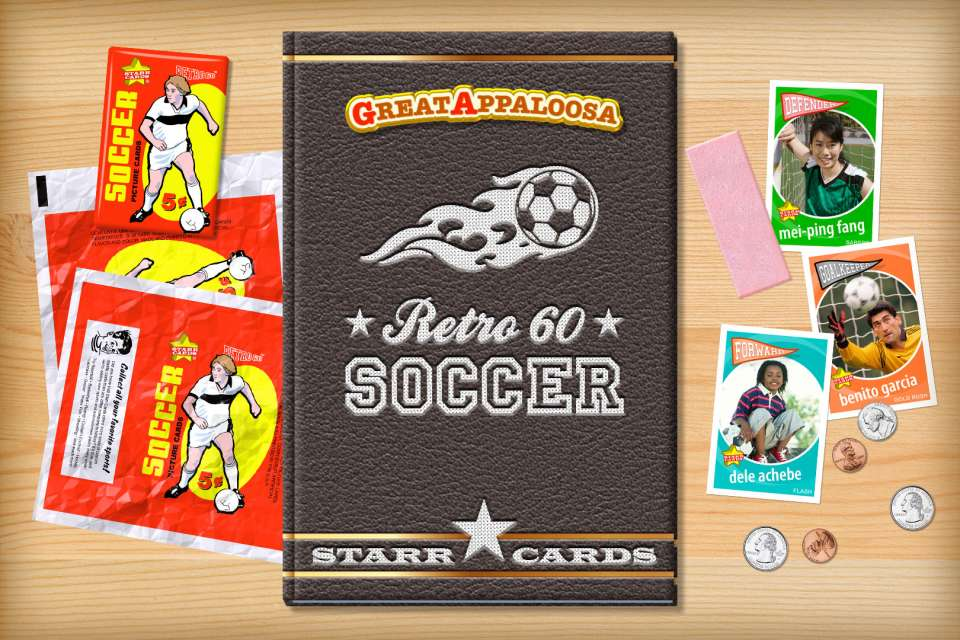 Make your own retro soccer card with Starr Cards.
