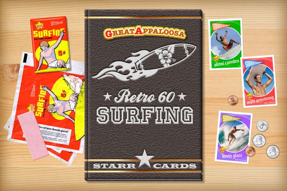 Make your own retro surfing card with Starr Cards.