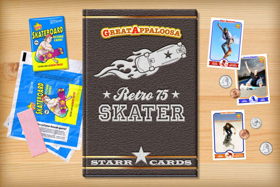 Make your own retro skater card with Starr Cards.
