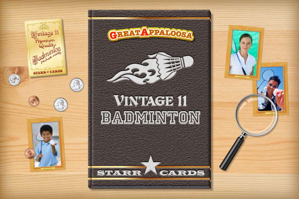 Make your own vintage badminton card with Starr Cards.