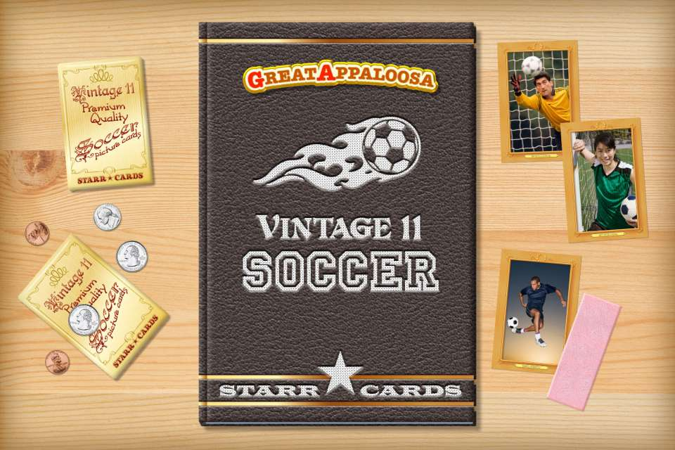 Make your own vintage soccer card with Starr Cards.