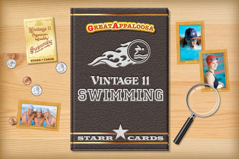 Make your own vintage swimming card with Starr Cards.