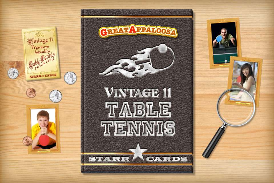 Make your own vintage table tennis card with Starr Cards.