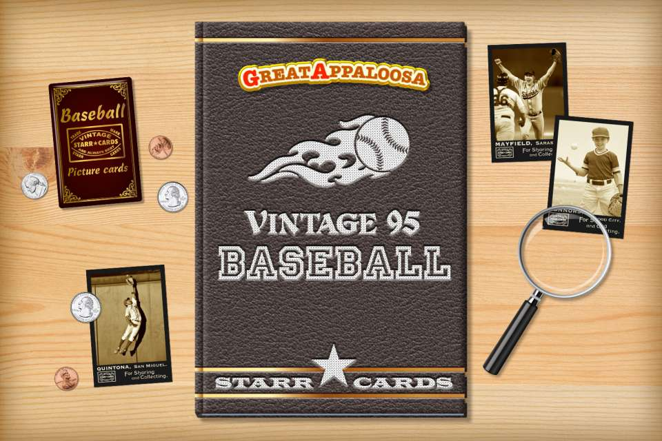 Make your own vintage baseball card with Starr Cards.