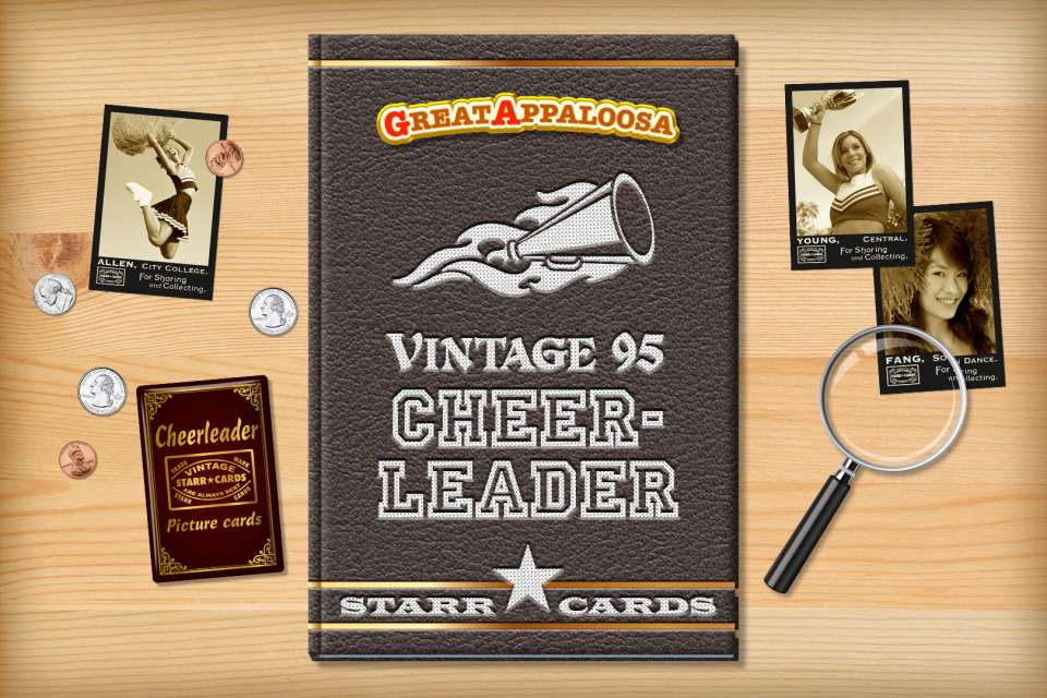 Make your own vintage cheerleader card with Starr Cards.