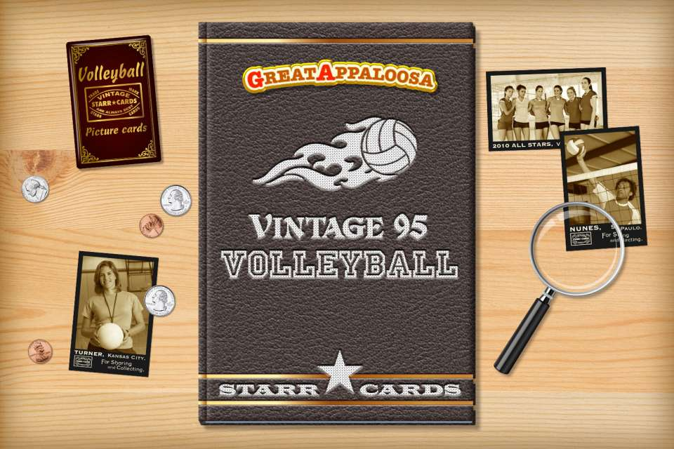 Make your own vintage volleyball card with Starr Cards.
