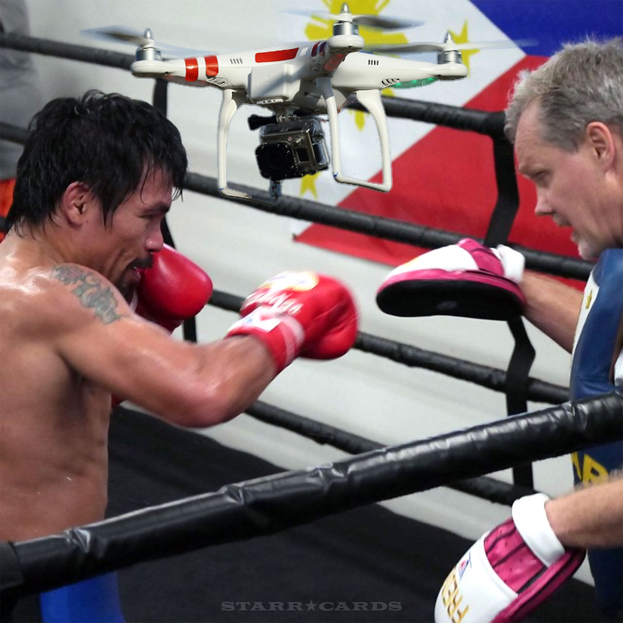 Manny Pacquiao's training camp buzzed by drone