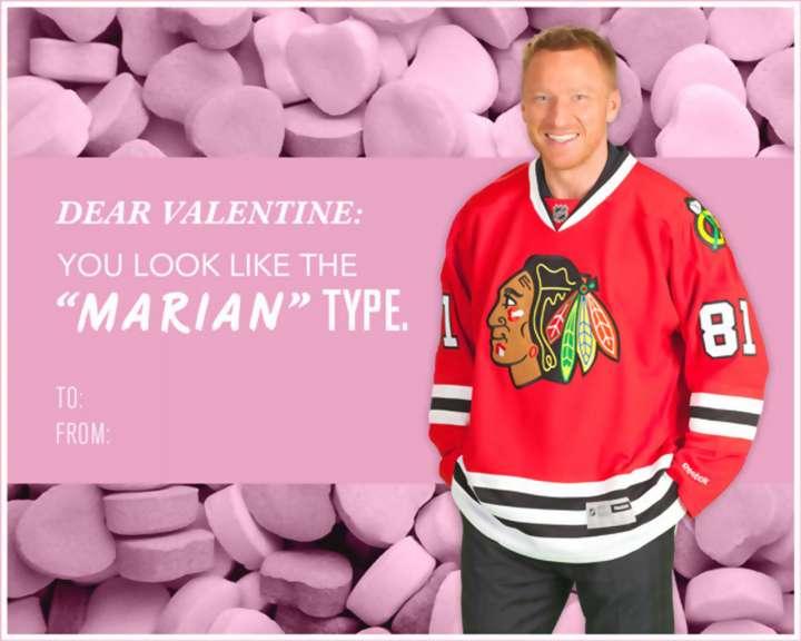 Marian Hossa Valentine's Day card