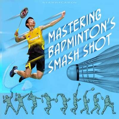 Mastering badminton's smash shot