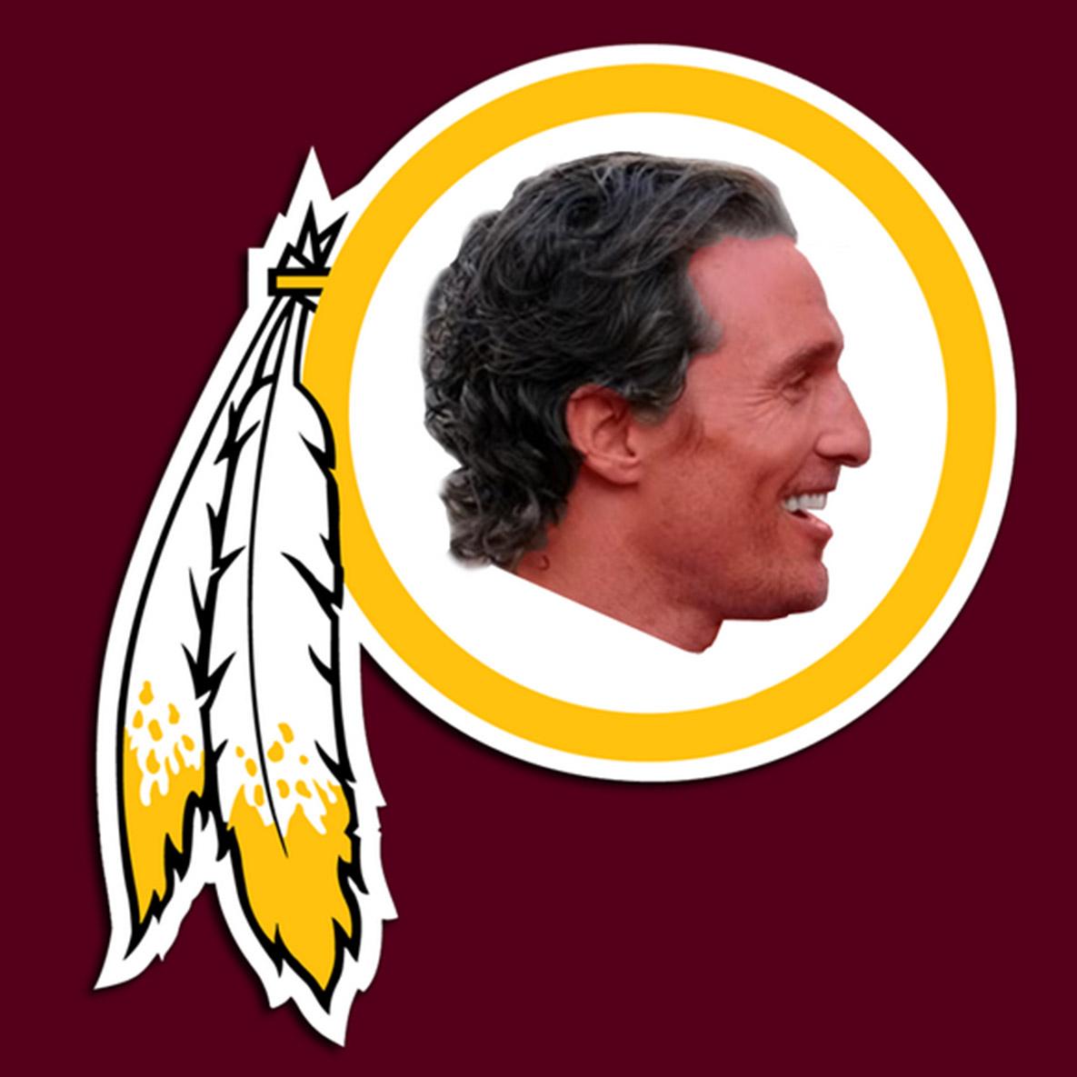 Matthew McConaughey as new Redskins logo