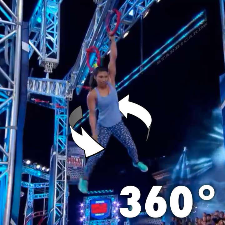 Meagan Martin impresses with 360 degree dismount on American Ninja Warrior
