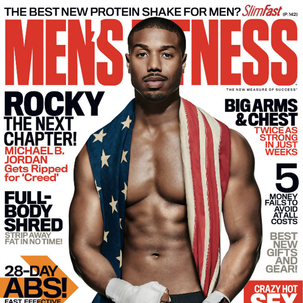 Michael B. Jordan gets ripped for 'Creed' on cover of Men's Fitness