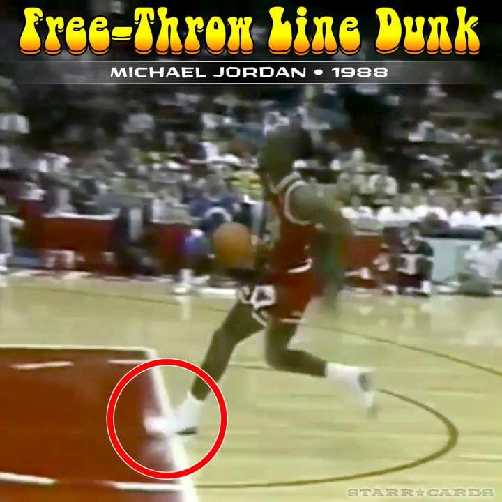 Michael Jordan : 1988 free-throw line dunk