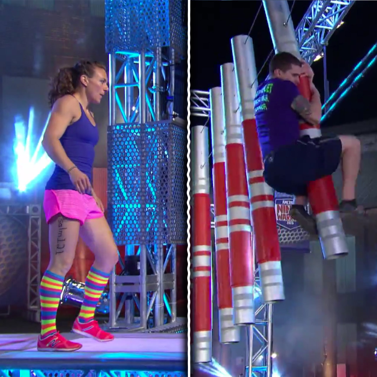 Michelle Warnky and Ryan Ripley inspire with gritty 'American Ninja Warrior'