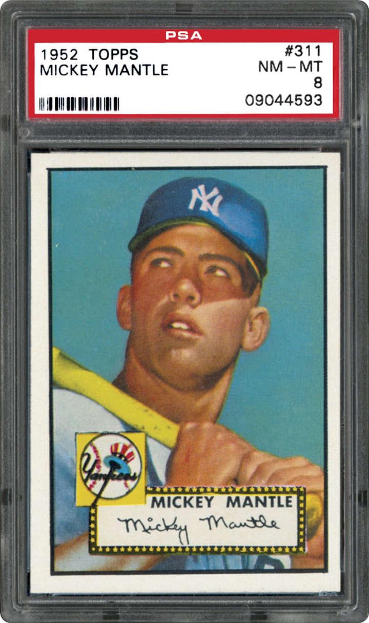 Mickey Mantle, 1952 Topps baseball card