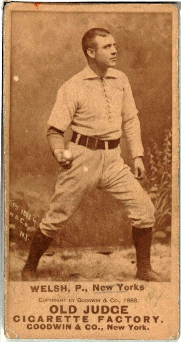 Mickey Welch baseball card from Goodwin & Co.