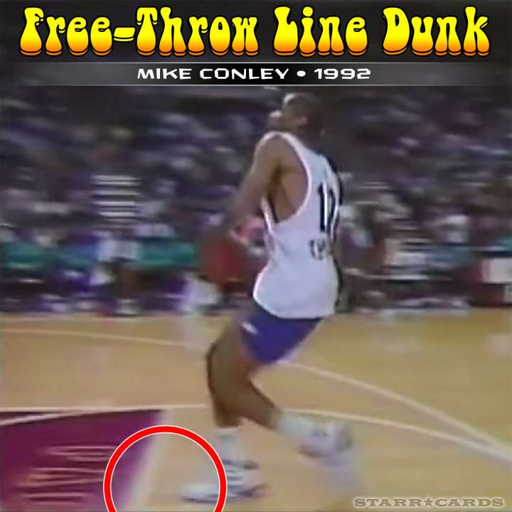 Mike Conley : 1992 free-throw line dunk