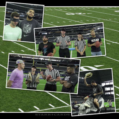 Mike Evans, Tyrann Mathieu and Ezekiel Elliott take on Dude Perfect