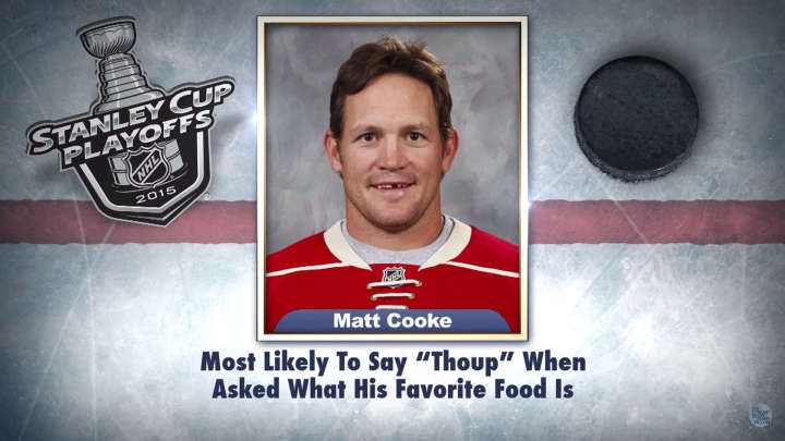 "Minnesota Wild winger Matt Cooke on ""Tonight Show Superlatives"" read by Jimmy Fallon"