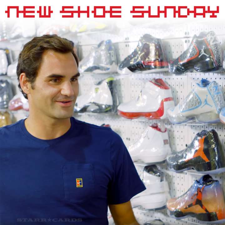 New Shoe Sunday: Roger Federer shops for Nikes in NYC