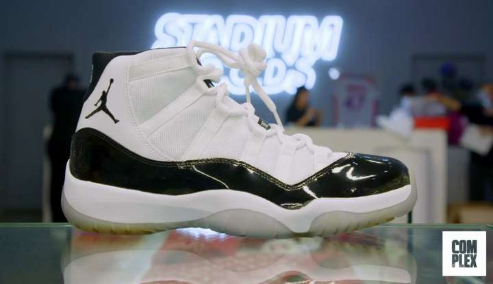 Nike Air Jordan 11 Retro (white top) bought by Roger Federer