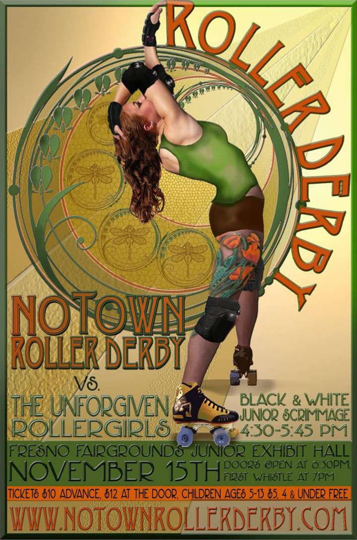 NOtown Roller Derby Poster