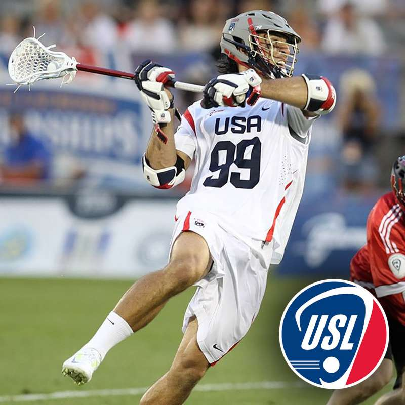 Paul Rabil with Team USA lacrosse