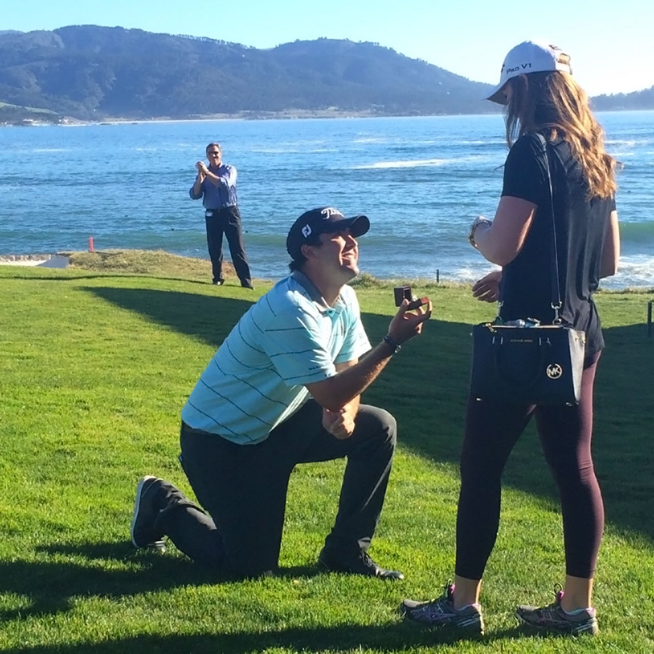 PGA Tour golfer Mark Hubbard makes marriage proposal at Pebble Beach