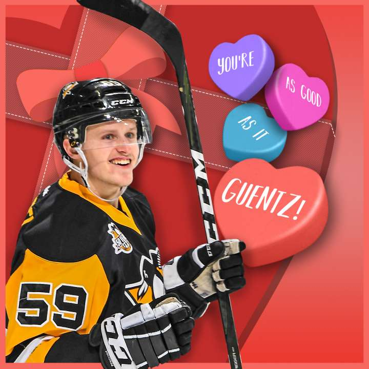 Pittsburgh Penguins Valentine from Jake Guentzel