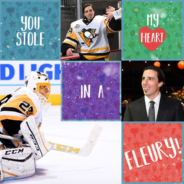 Pittsburgh Penguins Valentine from Marc-Andre Fleury