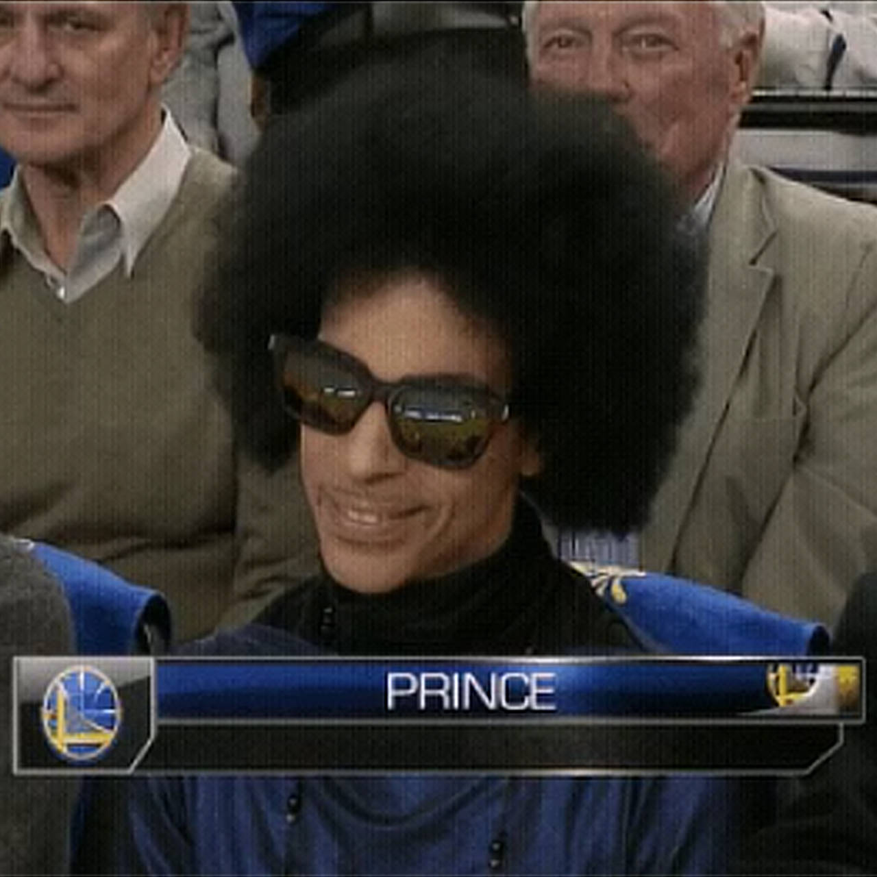 Prince attends Warriors game at Oracle Arena