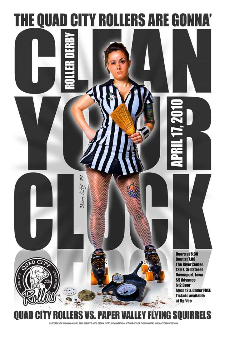Quad City Rollers poster by Danny O'Leary