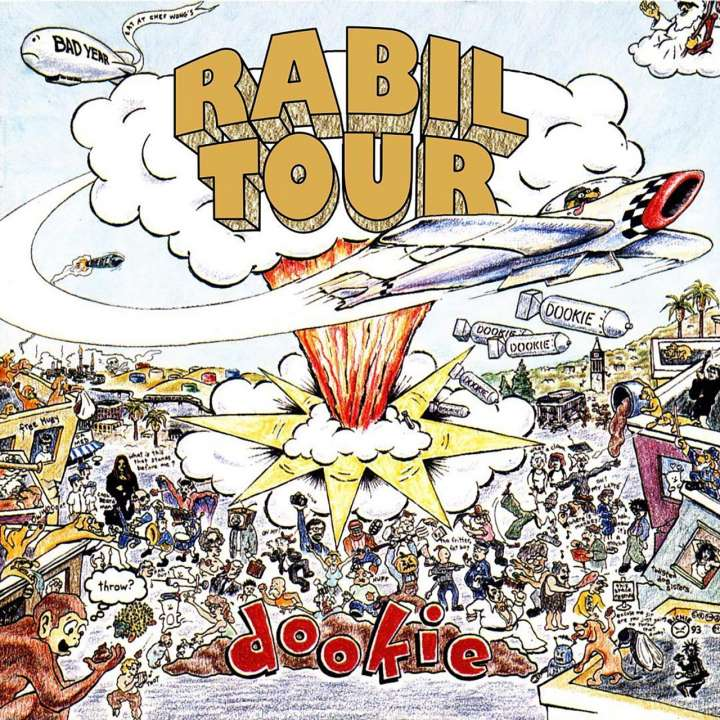 Rabil Tour parody of 'Dookie' album cover from Green Day
