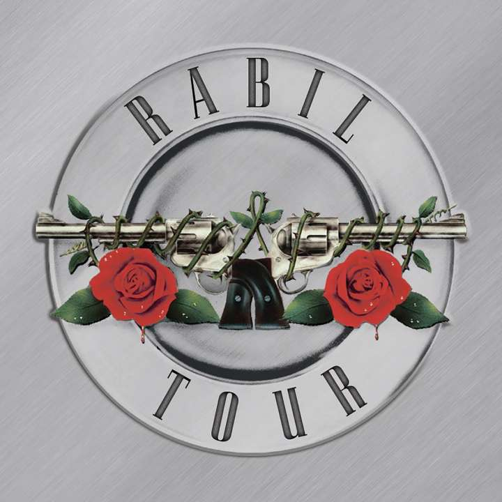 Rabil Tour parody of 'Greatest Hits' album cover from Guns N' Roses