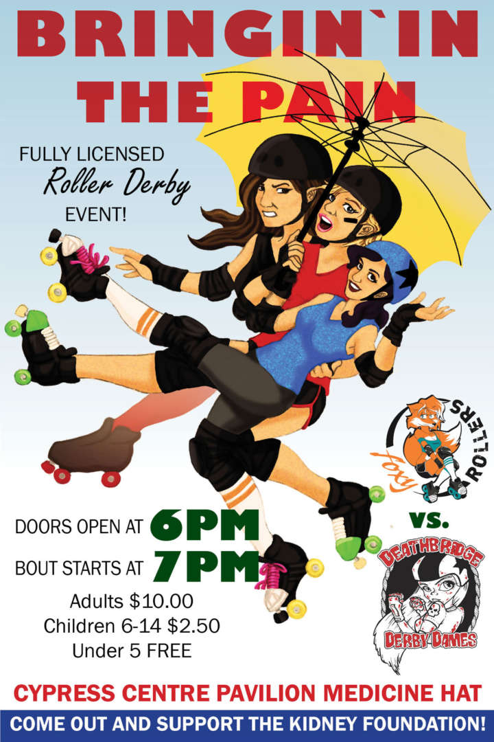 Redcliff Roller Derby presents 'Bringin' in the Pain'