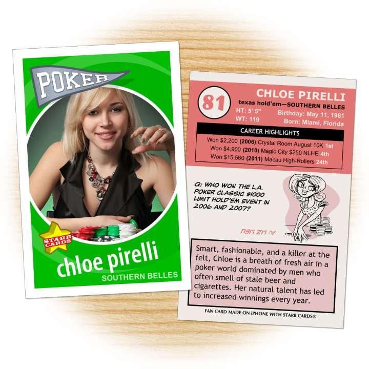 Poker card template from Starr Cards Poker Card Maker.