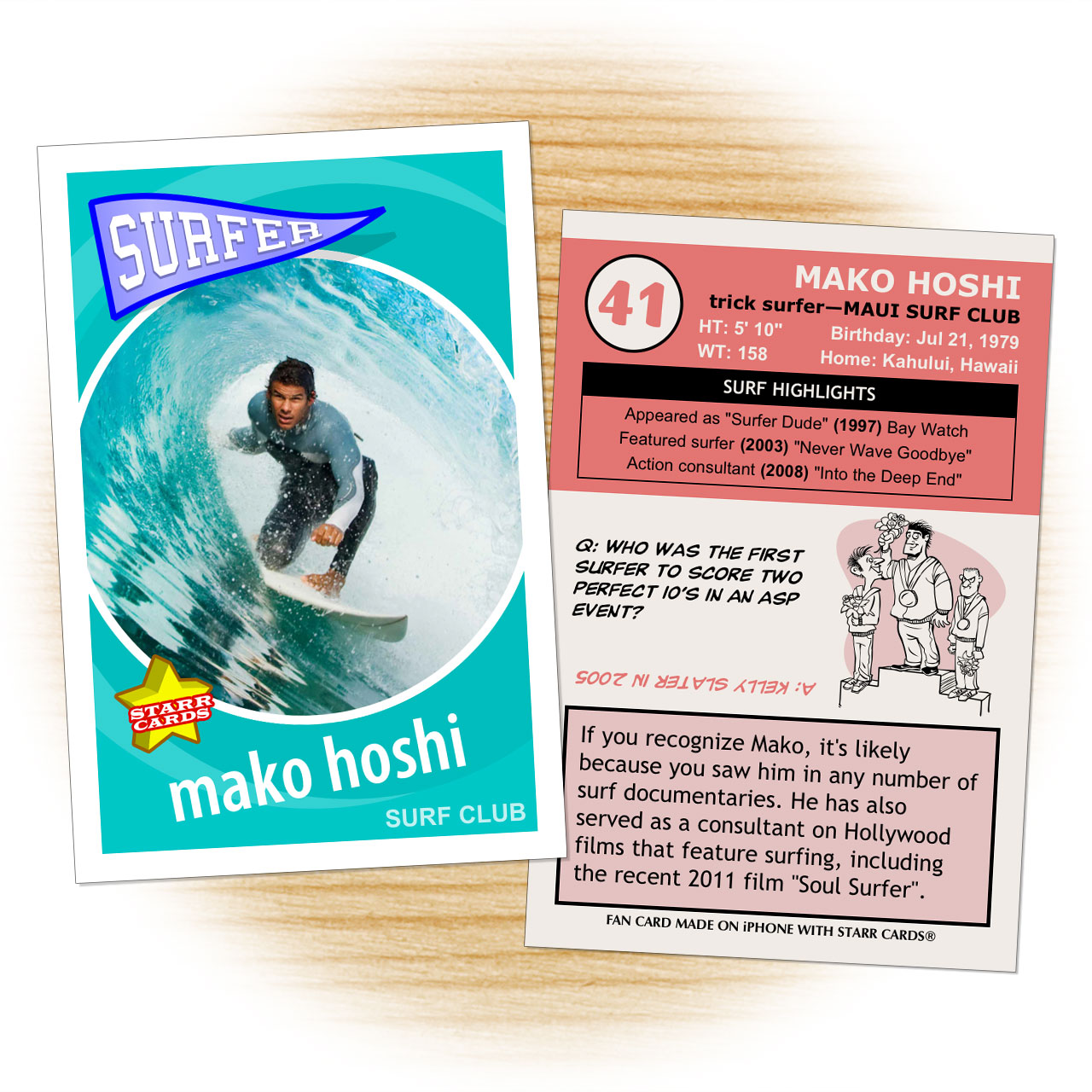 Retro 60 Series custom surfing cards