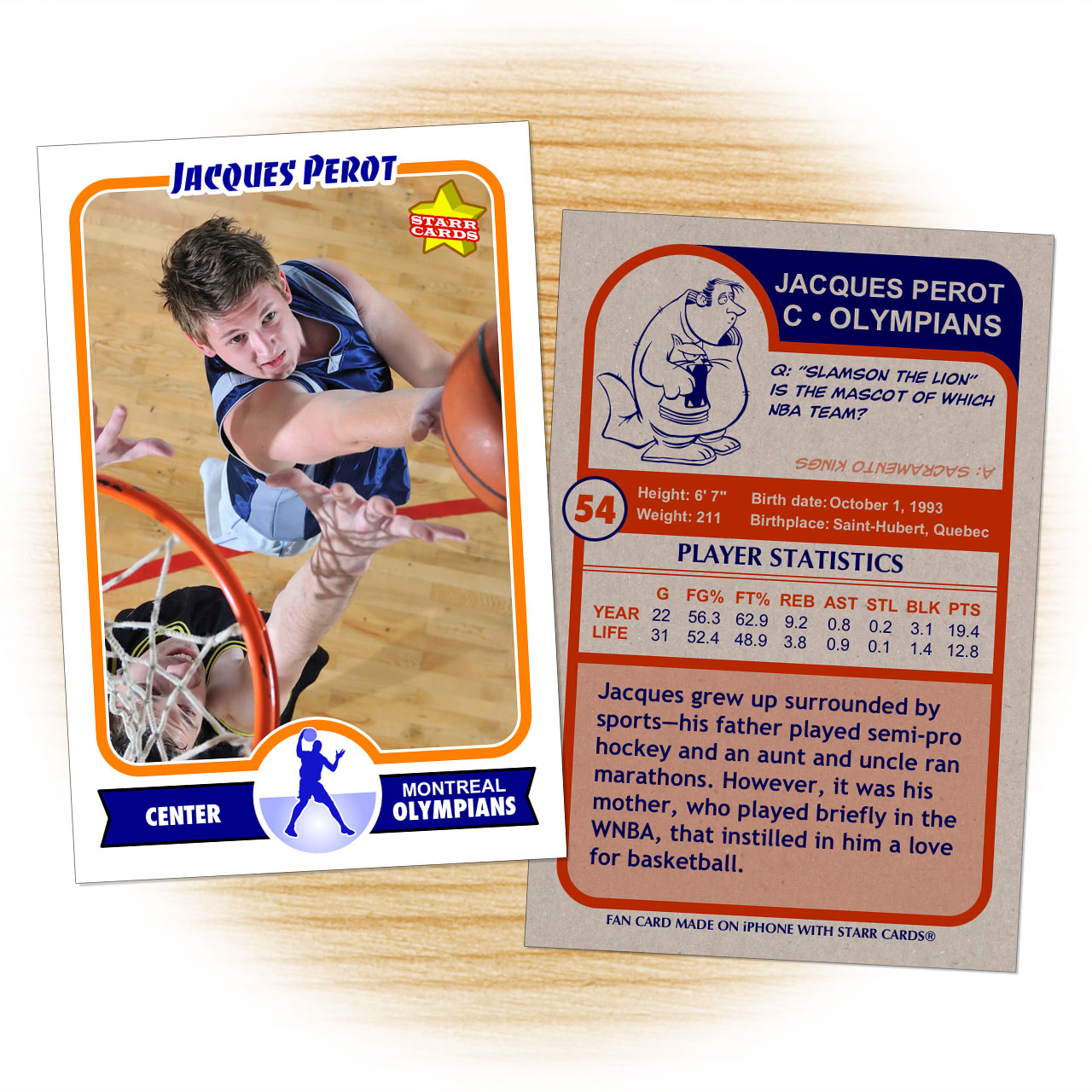 Retro 75 Series custom basketball cards