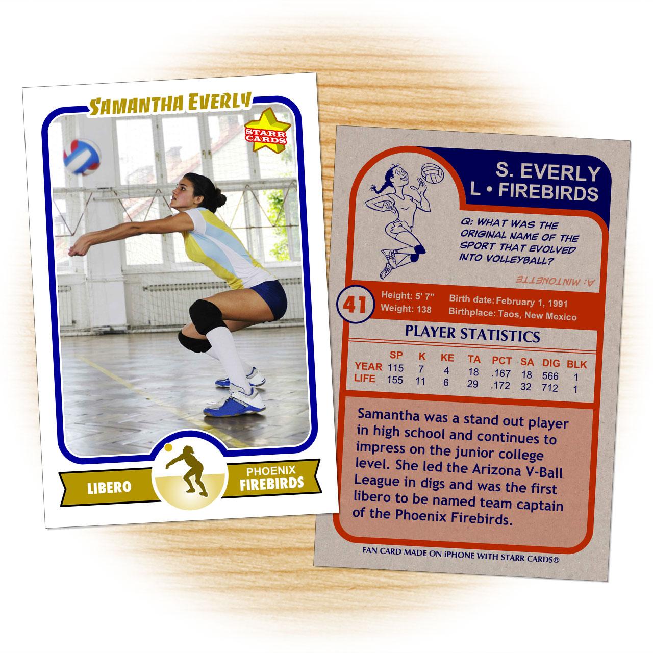 Retro 75 Series custom volleyball cards